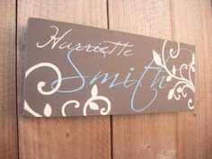 Personalized Door Name Sign: 12 x 5 Office Door Sign or Indoor House Door Sign on Etsy, $24.99