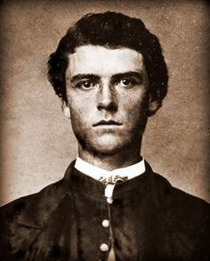 "William ""Buffalo Bill"" Cody, age nineteen,     c. 1865. Handsome."