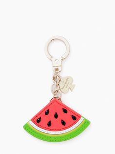 KATE SPADE KEY FOBS LEATHER WATERMELON KEYCHAIN