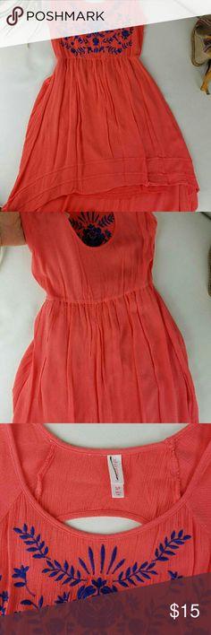 Xhilaration Dress. Xhilaration Dress.beautiful summer dress. Like new. It is high low. Embroidered . Xhilaration Dresses High Low