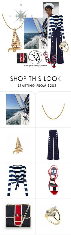 """""""Sailing by GenerousGems"""" by generousgems ❤ liked on Polyvore featuring Tory Burch, Dolce&Gabbana and Tommy Hilfiger"""