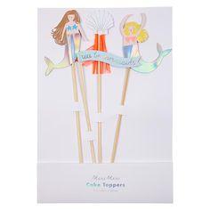"""Meri Meri """"Let's be Mermaids"""" Cake Toppers"""