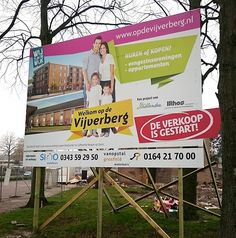 Bouwbord Vijverberg