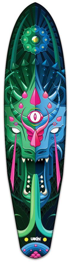 Urkin Skateboards by Juan Casini, via Behance