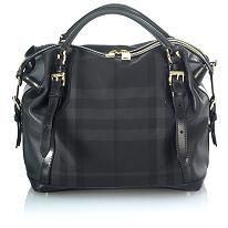 5 bags, everyday purse : Black Perforated Leather Burberry Satchel Handbag (same style, diff fabric pictured)