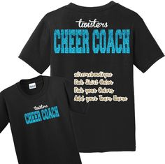 Cheer Coach Shirt / Cheer Shirt / Coach Shirt / Cheer t-shirt / Cheer Tee / Cheerleader Shirt Cheer Coach Shirts, Cheerleading Shirts, Cheer Coaches, Team Shirts, Gymnastics Coaching, Spirit Shirts, Simple Shirts, Custom Shirts, Colorful Shirts