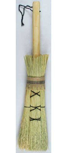 Altar Besom Broom by New Age. $17.95. A hand-crafted besom altar broom; lovingly made with materials from nature for all your ritual needs. Use this broom to sweep away negativity, then hang it up for protection in your home or sacred space. Made from broom corn, grown specifically for constructing besoms, the handles are made of unvarnished pine wood with a cord threaded through the end for ease of hanging. Please allow for variations, as each one of these fabul...