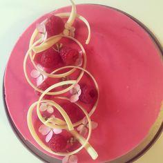 Hindbær fudge lagkage