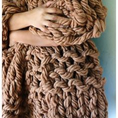 """Arm Knit ThrowPDF Download  """"Because blankets that looks like they're made of rope may be the only reason I would arm knit.""""  ~Dom"""