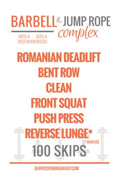 My Favorite 17 Minute Barbell Complex & Jump Rope Quickie
