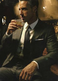 A good suit and a fine whiskey