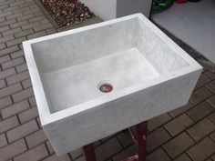 Made to order. Implementation starts after ordering. Shipment of product will occur approximately 4 weeks from the date of purchase. Washbasins offered without additional accessories. Drain strainer is a prop for a photo. Sink fits the standard strainer.  Overtop, unusual and durable concrete sink! Resistant to detergents. No different from traditional products in use. Handmade in our workshop. Makes every interior look unusual and incredible!  We specialise in unordinary personalised…