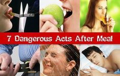 MUST READ: The 7 Dangerous Acts After Meal http://www.healthdigezt.com/the-7-dangerous-acts-after-meal/  #healthdigezt #health #diet #beauty #nutrition #exercise #food #new #homeremedies #wellness #fitness