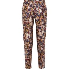 Antonio Berardi Floral-jacquard skinny pants (485 BAM) ❤ liked on Polyvore featuring pants, blue, colorful pants, skinny trousers, high waisted skinny pants, floral pants and high waisted skinny trousers