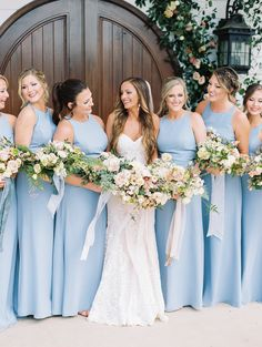 A Floral Filled Chapel Wedding With All The Puppy Love in Arkansas via Magnolia Rouge Blue Country Weddings, Baby Blue Weddings, Blue White Weddings, Baby Blue Wedding Theme, Pastel Blue Wedding, Southern Weddings, Vintage Weddings, Lace Weddings, Bridesmaid Dresses Under 100