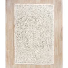 Charlton Home Pierce White Shag Area Rug & Reviews | Wayfair
