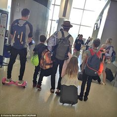 End of an era: Victoria Beckham posted this image of her family on Instagram, revealing sh...