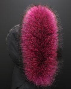 růžový pink kousek pro tvojí parku - pravá kožešina na kapuci od www.kuze-deluxe.com #real#pink#fur#prava#kozesina#ruzova