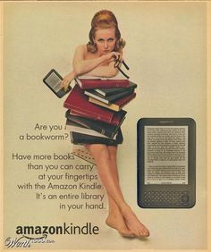Vintage ad for a modern product- Kindle
