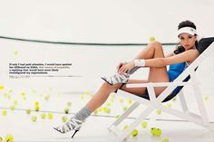 Tennis fashion editorial