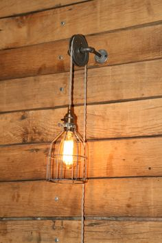 Just Custom Lighting - Listings View Pulley Wall Mount Light Industrial Wall Sconce Pendant Light On Aged Pulley Mount. Farmhouse Light Fixtures, Farmhouse Chandelier, Farmhouse Lighting, Rustic Lighting, Lighting Ideas, Cuadros Diy, Luminaire Applique, Deco Luminaire, Wall Mounted Light