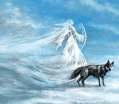 Skadi Goddess Of Winter http://www.viking-mythology.com/jotuns.php #norsemythology #winter