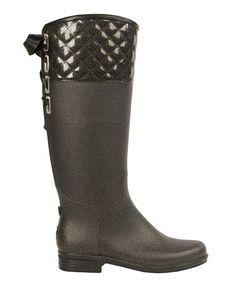 Another great find on #zulily! Gunmetal Victoria Rain Boot #zulilyfinds