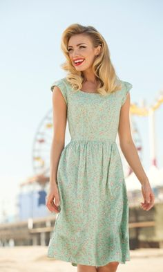 Tina, if only you didn't hate green! The print is nice and subtle. Sea Breeze dress from Shabby Apple