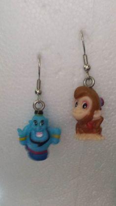 Disney Earrings Genie and Abu by KatchysDesigns on Etsy https://www.etsy.com/listing/194160959/disney-earrings-genie-and-abu