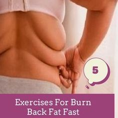 Exercises For Burn Back Fat Faster | Pin Remedies