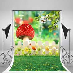 Spring Photography Backdrops Green Natural Scenery Background Big Mushroom Colorful Eggs Photo Backdrop for Easter Children Photographic Spring Backdrop Easer Background Natural Backdrop Online with $156.12/Piece on Fanny08's Store | DHgate.com