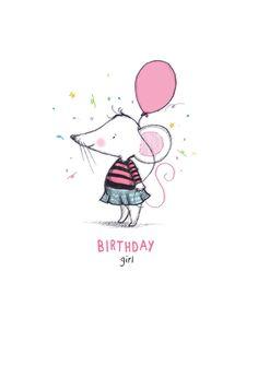 RRSC01 'Birthday Girl' Greeting Card, £2.50 Happy Birthday Wishes Quotes, Birthday Card Sayings, Girl Birthday Cards, Happy Birthday Greetings, Pattern Illustration, Baby Illustration, Happy Birthday Illustration, Birthday Jokes, Birthday Painting