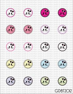 NEW Kitty Kats Digital Image Sheet for 1 Inch Bottlecaps Personal and Commercial Use graphicdesignbytara - Craft Cafe
