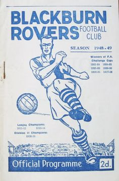 Challenge Cup, Blackburn Rovers, Football Program, Football Season, Champion, Soccer, English, Seasons, History
