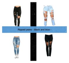 """#rippedjeans ripped jeans"" by elina-isaksen on Polyvore featuring Machine, women's clothing, women's fashion, women, female, woman, misses and juniors"