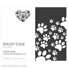you love dogs, now go tell the world! hand out one or two, why not three cards at a time. a happy customer is sure to recommend you to a neighbor or a friend.