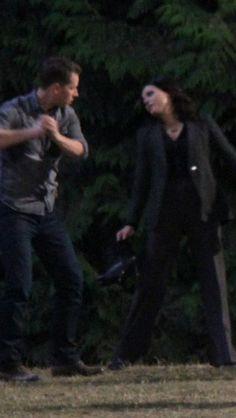 Josh & Lana on set (July 23, 2015)