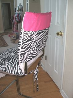 kitchen chair cover idea - NOT this fabric, but may be a DIY project :D Kitchen Chair Covers, Kitchen Chairs, Armchair Covers, Organization Ideas, Sewing Ideas, Safari, Household, Diy Projects, Decor Ideas