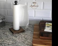 This simple holder can give your space a unique look. It will be an outstanding piece in your kitchen or workshop place. Please check our other matching stuff: Rustic Industrial, Modern Rustic, Rustic Paper Towel Holders, Galvanized Pipe, Interior Decorating Styles, Interior Design, Bathroom Cleaning, Wood Pieces, Wood Colors