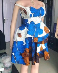 Pin by Topollo Pilane on proud to be African [Video] African Dresses For Kids, African Wear Dresses, African Fashion Ankara, Latest African Fashion Dresses, African Print Fashion, African Attire, Ankara Short Gown Styles, Short Gowns, Ankara Gowns