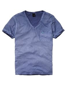 OIL WASHED T WITH CHEST POCKET - Men