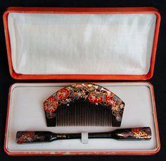 Japanese Kanzashi Hair Decoration Geisha Wear 1950 with Case Japan Craft   eBay