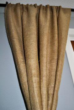 White Blackout Lined Burlap Curtain Panels | Curtains | Pinterest ...