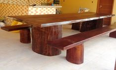 Wooden Dining Table Designs, Wooden Dining Tables, Dining Bench, Wood Bed Design, Rustic Design, Used Woodworking Tools, Wood Beds, Phone, Awesome
