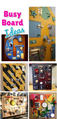 Busy Board Ideas for toddlers - DIY activity boards ideas to make