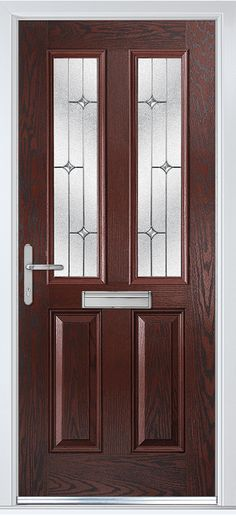 Carnoustie in Rosewood with Zinc Art Star glass