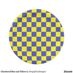 Checkered Blue and Yellow 7 Inch Paper Plate  sc 1 st  Pinterest & Checkered Orange and White Paper Plate | Pinterest | White paper and ...