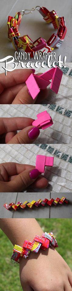 CANDY WRAPPER Starburst Wrapper Link Bracelet!