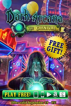 Dark Arcana: The Carnival Giveaway! Do you have a thing for carnivals? Then you better beware! Today through September 25th, G5 is giving away Dark Arcana: The Carnival, our heart-pounding hidden object adventure, completely FREE on iOS (iPad and iPhone), Google Play, Kindle Fire and Mac OS platforms! Unravel the secret surrounding a mysterious mirror and help find a young girl who has gone missing during the carnival! Learn more: http://www.g5e.com/sale