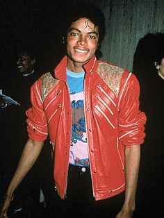 Buy Replica Michael Jackson beat it red real leather jacket from us. Free shipment to USA and Canada on Michael Jackson beat it jacket leather Grace Jones, Power Dressing, Boy George, Elvis Presley, Beatles, The Jackson Five, The Jacksons, My Childhood Memories, The Cure